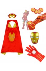 Iron man Cape Mask Sword Gloves Weapon