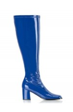 Ladies Go Go Blue Knee High Wide fit Adult Women Boots Shoes Hippy 60 70 Disco