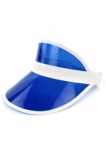 d6c5e1d9bb1 Blue Unisex Sun Visor Cap Golf Fancy Dress Colour Stretch Poker 80 s Rave  Headband casino visors