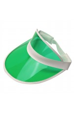 Green Unisex Sun Visor Cap Golf Fancy Dress Colour Stretch Poker 80's Rave Headband casino visors