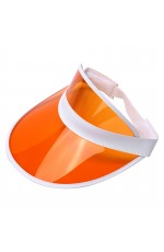 Orange Unisex Sun Visor Cap Golf Fancy Dress Colour Stretch Poker 80's Rave Headband casino visors