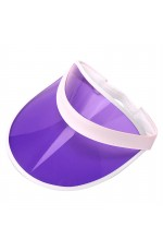 Purple Unisex Sun Visor Cap Golf Fancy Dress Colour Stretch Poker 80's Rave Headband casino visors