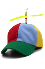 Adult Propeller Beanie Ball Cap Baseball Hat Multi-Color Clown Adjustable Costume Accessory