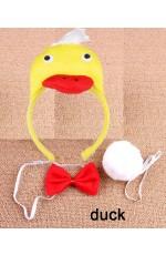 Duck Headband Bow Tail Set Kids Animal Farm Zoo Party Performance Headpiece Fancy Dress Costume Kit Accessory