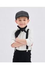 Black Victorian boy colonial boy costume cap hat