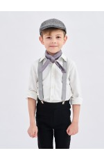 Grey Victorian boy colonial boy costume cap hat