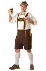Oktoberfest shorts with attached suspenders plus hat