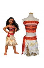 Adult Moana Polynesia Princess Dress Girls BookWeek Hawaiian Costume Book Week