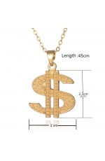 Ladies Teens Dollar Medallion Bling Ali G Gangster 80s Hip Hop Costume Necklace Accessary