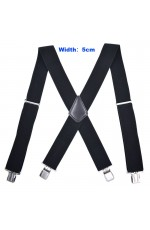 1920s Mens Womens Unisex Suspenders Braces Elastic Adjustable Clip on 50 mm Width