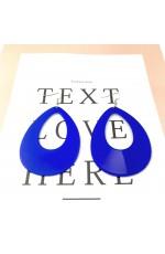 Teardrop Earrings Neon 80s Retro Rock Star Jewellery Ladies Womens Fancy Dress Costume Accessory