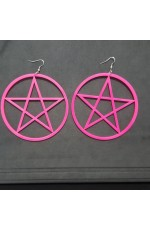 Earrings Neon 80s 1980s 90s Retro Rock Star Jewellery Ladies Womens Fancy Dress Costume Accessory