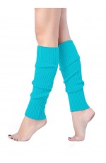 Lake Blue Womens Pair of Party Legwarmers Knitted Dance 80s Costume Leg Warmers