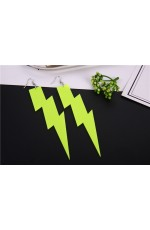 Glitter lightning EARRINGS PLASTIC ROCK star 80s COSTUME Fluro Neon