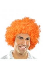 Funky Orange Unisex Afro Wig