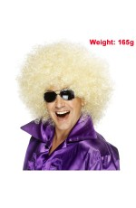 Funky Golden Unisex Afro Wig