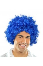 Funky Blue Unisex Afro Wig