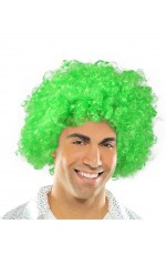 Funky Green Unisex Afro Wig