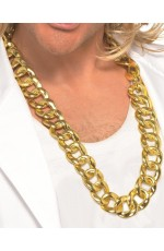 Chunky Gold Chain Necklace Gangster Pimp Hip Hop Rapper Costume Jewellery 80s