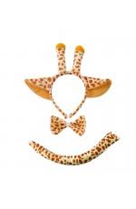Giraffe Animal Costume Headband Bow Tie Tails Set Zoo Party Performance Kids Fancy Dress Accessories