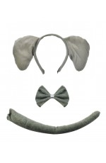 Tail and Bow Tie Set Animal Zoo Book Week Fancy Dress Accessory NEW Zebra Ears