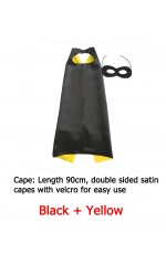 Black Double sided Cape & Mask Costume set