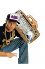 "19"" Gold 80s Hip Hop Inflatable Boom Box"