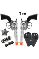 Western Toy Gun Holster Cowboy Set 7pcs