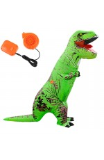 Green ADULT T-REX INFLATABLE Costume Jurassic World Park Blowup Dinosaur TRex T Rex