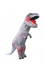 Grey T-REX INFLATABLE Costume