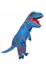 Kids Blue T-REX Inflatable Costume