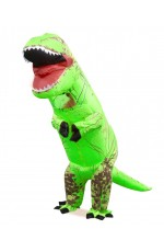 Kids Green T-REX Inflatable Costume