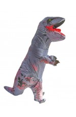 Kids Grey T-REX Inflatable Costume