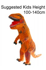 Kids Orange T-REX Inflatable Costume