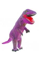 Kids Purple T-REX Inflatable Costume
