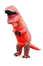 Kids Red T-REX Inflatable Costume