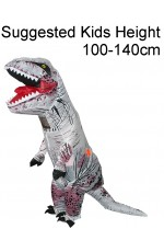Kids White T-REX Inflatable Costume