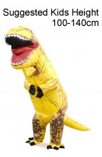 Kids Yellow T-REX Inflatable Costume