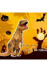 Brown Child T-Rex Blow up Dinosaur Inflatable Costume