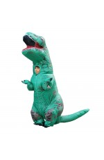 Green Child T-Rex Blow up Dinosaur Inflatable Costume