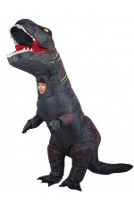 Grey Child T-Rex Blow up Dinosaur Inflatable Costume