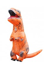 Orange Child T-Rex Blow up Dinosaur Inflatable Costume
