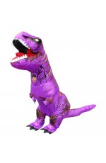 Purple Child T-Rex Blow up Dinosaur Inflatable Costume
