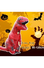 Red Child T-Rex Blow up Dinosaur Inflatable Costume