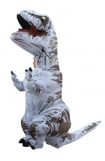 White Child T-Rex Blow up Dinosaur Inflatable Costume