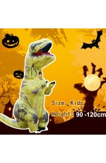 Yellow Child T-Rex Blow up Dinosaur Inflatable Costume