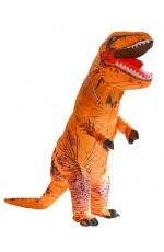 Orange T-REX Inflatable Costume