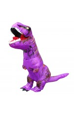 Purple T-REX INFLATABLE Costume