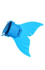 Kids Swimmable Mermaid Tail Monofin Mono Swimming Fin Foot Training Flipper Shoe