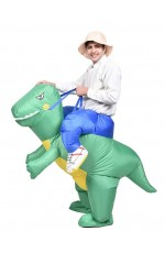 Adult Green Dinosaur T-Rex Carry Me Inflatable Costume